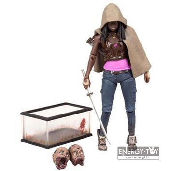 Movie TV Series The Walking Dead Michonne Knife Female PVC model Toy 15cm/6inch Action Figure collection gift