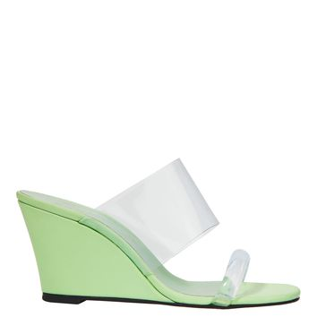 Olympia Keylime Wedge Sandals