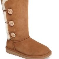 UGG® Bailey Button Triplet II Genuine Shearling Boot (Little Kid & Big Kid) | Nordstrom