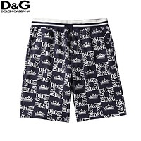 D&G Dolce&Gabbana Fashion Men Women Casual Print Sport Running Beach Shorts