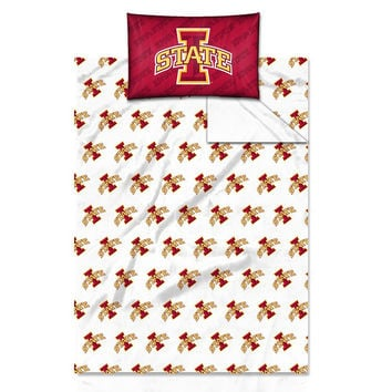 Iowa State Cyclones NCAA Twin Sheet Set