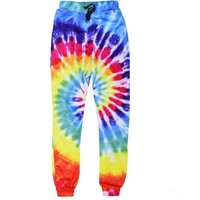 2016 new fashion sweatpants harajuku 3D rainbow circle full printing casual pants men women Novelty trousers plus size S-XL