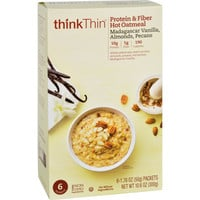 Think Products Oatmeal - Protein and Fiber Hot - thinkThin - Madagascar Vanilla with Almonds and Pecans - Box - 10.6 oz - Case of 12