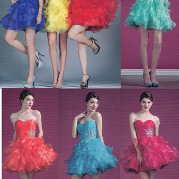 8 COLORS SHORT SWEET 16  DANCE PROM COCKTAIL DRESS HOMECOMING EVENING GOWN 4-18