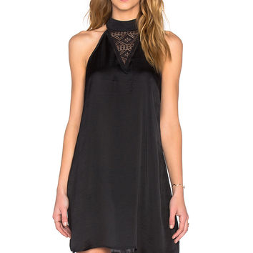 Band of Gypsies High Neck Mini Dress in Black