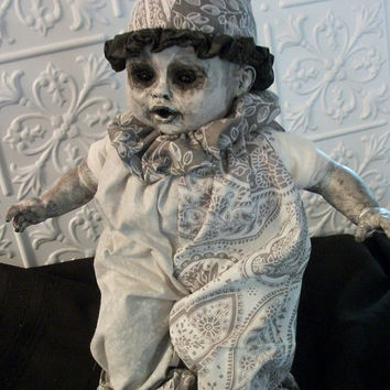 Lonesome Milky Doll Monster Alternative Art Gothic Horror Prop Scary Fantasy Salvage Repurposed