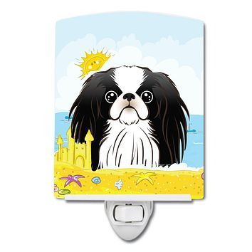 Japanese Chin Summer Beach Ceramic Night Light BB2098CNL