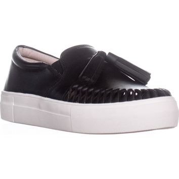 Vince Camuto Kayleena Tassel Fashion Sneakers, Black, 8 US / 38 EU