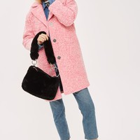 Boucle Cocoon Coat - Clothing