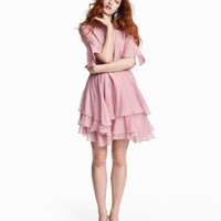 H&M Lyocell-blend Tiered Dress $79.99