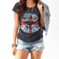 Union Jack Lip Stain Tee