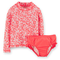2-Piece Floral Rash Guard Set