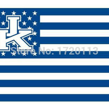 Kentucky Wildcats NCAA USA Stars Stripes Flag New 3x5ft 90x150cm Polyester Flag Banner, free shipping