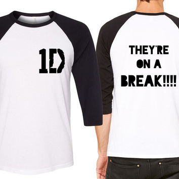 "One Direction ""They're on a Break!!"" Baseball Tee"