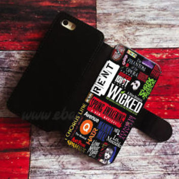 Broadway Musical Collage Wallet iPhone cases Samsung Wallet Leather Phone Case