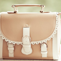 OASAP - Three Pin Buckle Detail Makeup Case with Lace Trim to Flap - Street Fashion Store