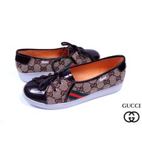 GUCCI Women Strappy Fashion Flats Shoes