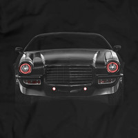 Chevy Camaro 1973 Glow Headlights Muscle Racing Car American Muscle T-Shirt