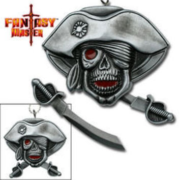 Pirate skull Neck Knife FM507