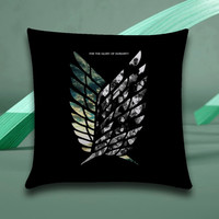 attack on titan logo Pillow case size 16x16, 16x24, 18x18, 20x30, 20x26
