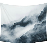 Top of The Mountain Clouds Wall Tapestry