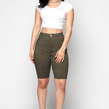 Stretch Bermuda Shorts