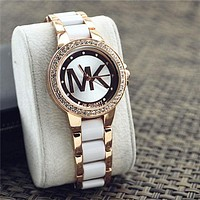 Stylish Rhinestone MK Ladies Watch