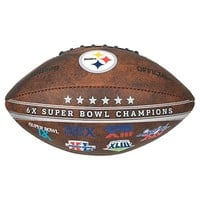 Pittsburgh Steelers Commemorative Championship 9'' Football (Brown)