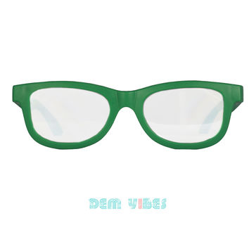 Diffraction Glasses Green