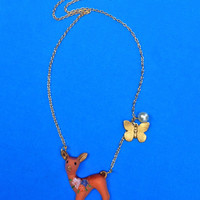 Doe A Deer Necklace | Eclectic Eccentricity Vintage Jewellery