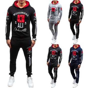 Tracksuit  Man  2018 Men's  Clothing  Cotton  Casual  Track Suit