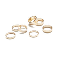 Seven Bands Ring Set