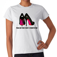 Louboutin Pumps Inspired T-shirt (14-006)