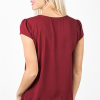 Tres Jolie Blouse - Biking Red
