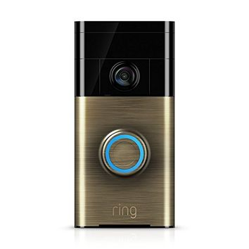 Ring 88RG003FC000 Wi-Fi Enabled Video Doorbell in Antique Brass