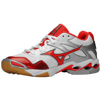 Mizuno Women's Wave Bolt 4 Volleyball Shoes - White Red
