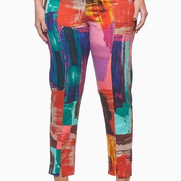 Print Pants - Large Size Print Pants - Plus Size Pants For Every Occasion - PAINT THE TOWN TROUSER - TS14