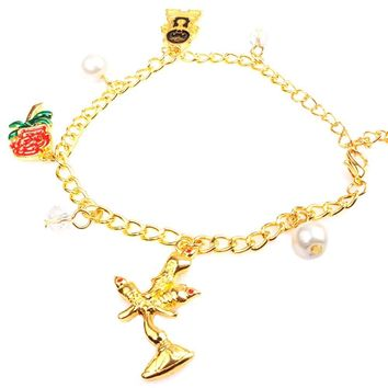 Fashion Jewelry Beautiful Bracelet Beauty and Beast Women Charm Bracelet Jewelry