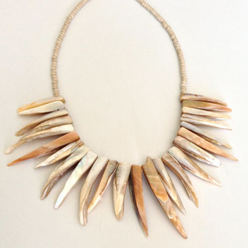 Shell Drop Necklace - Champagne Necklace