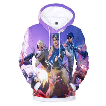 Fornite Game Battle Royale Hip Hop Men Hoodie 2018 Streetwear 3D Print Mens Birthday Gift Idea Fortnite Free Shipping Sweatshirt
