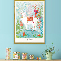 Llama - Large poster - Alphabetic Animals Series