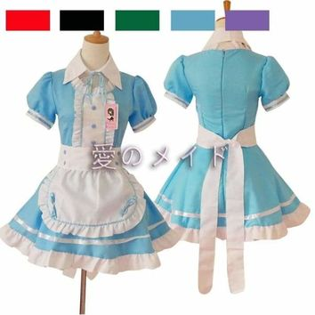New  Sexy Women Costumes Dress/Brand Bowknot French Maid Costumes/Princess Women Clothing Cosplay Dress