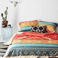 Curtis Jinkins For DENY Southwestern Plains Duvet Cover- Red Twin