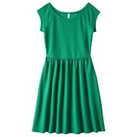 Xhilaration® Junior's Textured Knit Dress - Kelly Green