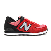 "New Balance - 574 ""Sweatshirt"" (Red/Black)"