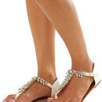 Sparkle In The Stars Sandals: White