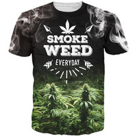 Smoke Weed Everyday Letters T-Shirts (Unisex)