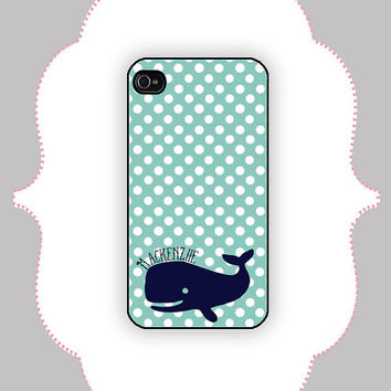 iPhone Case- Polka Dot Whale -iPhone 4/4s, iPhone 5 Case