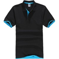 New Men's Polo Shirt Men Cotton Polyester Short Sleeve shirt clothes jerseys Mens Shirts Plus Size XS - 3XL Polo Shirt