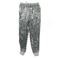 MICHAEL Michael Kors Womens Sequined Drawstring Jogger Pants